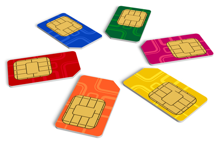 Circle from color SIM cards